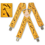 Picture of Yellow Tape Measure Braces - 341031
