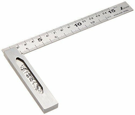 Picture of Shinwa Japanese Precision Stainless Carpenters Try Square - 62009