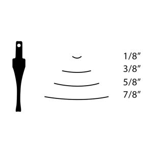 """Picture of Flexcut SK600 Chisel Sweep 3 - 1/8"""" (3mm) - 476364"""