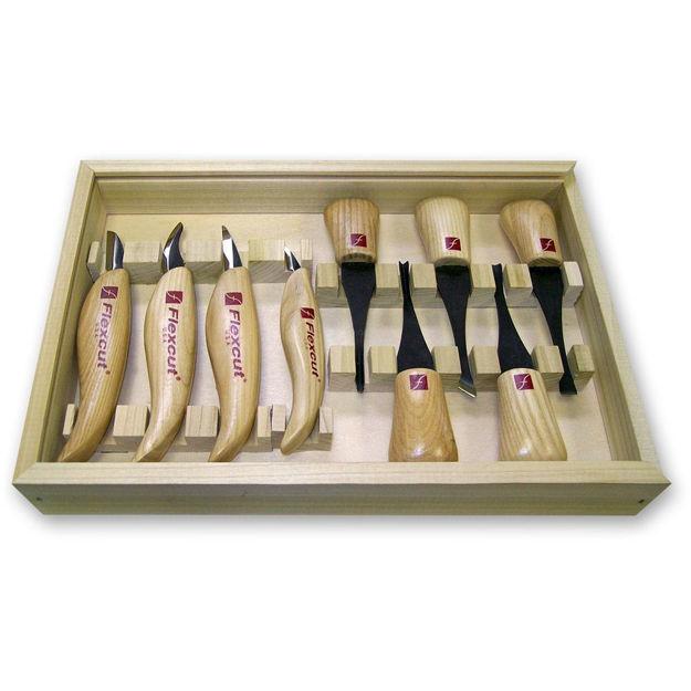 Picture of Flexcut KN700 9pc Deluxe Plam & Knife Set - 502720