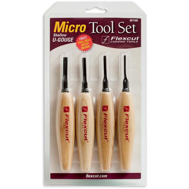 Picture of Flexcut MT400 4pc Shallow U-Gouge Micro Tool Set - 102644