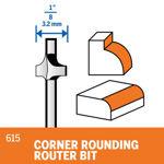 Picture of DREMEL 615 Corner Rounding Router Bit 9.5mm