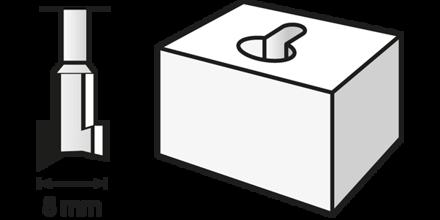 Picture of DREMEL 655 Keyhole Router Bit 8.0mm