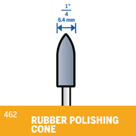 Picture of DREMEL 462 Rubber Polishing Cone Point 6.4mm
