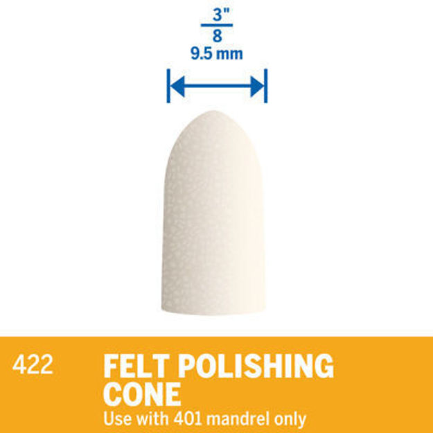 Picture of DREMEL 422 Felt Polishing Cone 10mm