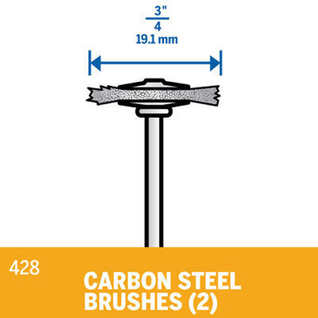 Picture of DREMEL 428 Carbon Steel Brush 19mm