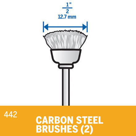 Picture of DREMEL 442 Carbon Steel Brush 13mm