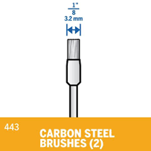 Picture of DREMEL 443 Carbon Steel Brushes 3.2mm