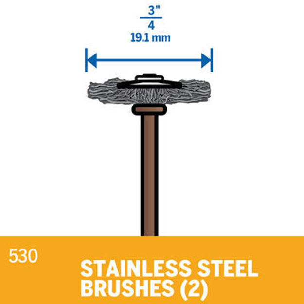 Picture of DREMEL 530 Stainless Steel Brush 19mm