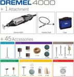 Picture of Dremel 4000 (4000-1/45) Multi-Tool With 45 Accessories