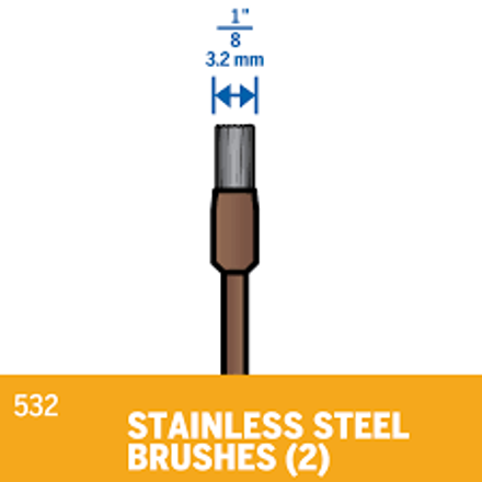 Picture of DREMEL 532 Stainless Steel Brush 3.2mm