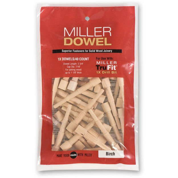 Picture of Miller Standard Dowels 1X Walnut 40pk - 300459