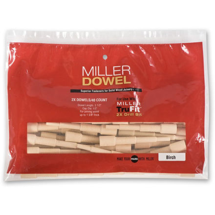 Picture of Miller Large Dowels 2X Birch 40pk - 300497