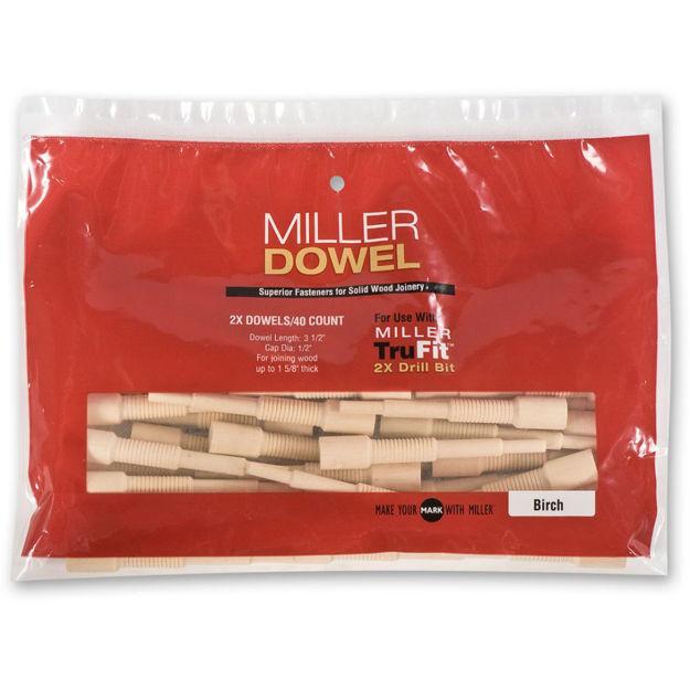 Picture of Miller Large Dowels 2X Oak 100pk - 475190