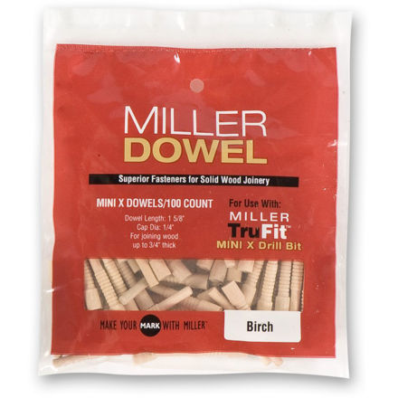 Picture of Miller Mini Dowels Walnut 100pk - 300558