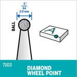 Picture of DREMEL 7103 Diamond Wheel Point 2mm