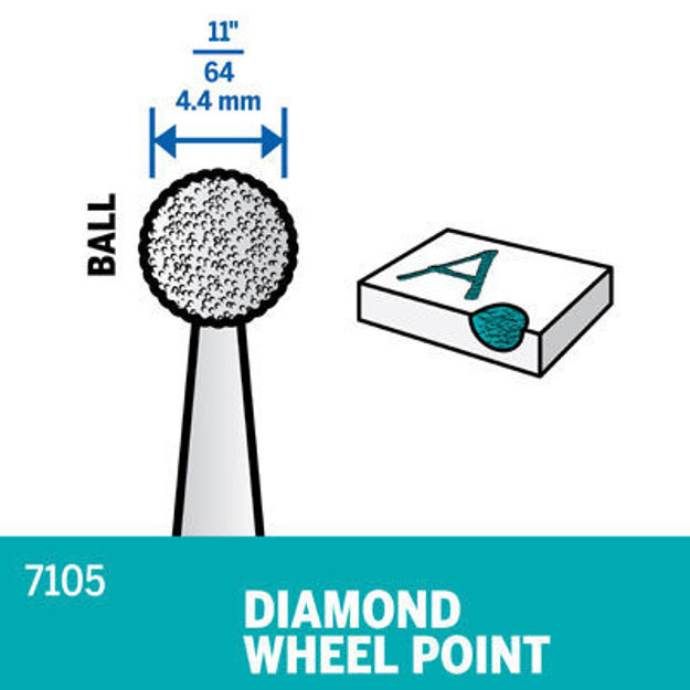 Picture of DREMEL 7105 Diamond Wheel Point 4.4mm