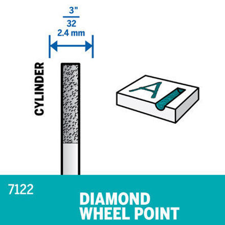 Picture of DREMEL 7122 Diamond Wheel Point 2.4mm
