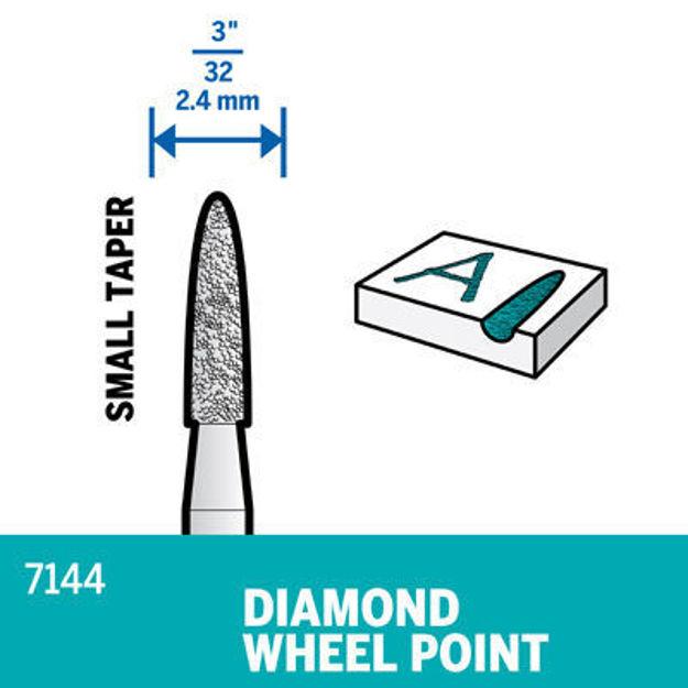 Picture of DREMEL 7144 Diamond Wheel Point 2.4mm