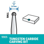 Picture of DREMEL 9905 Tungsten Carbide Ball Tip 3.2mm