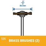 Picture of DREMEL 535 Brass Brush 19mm