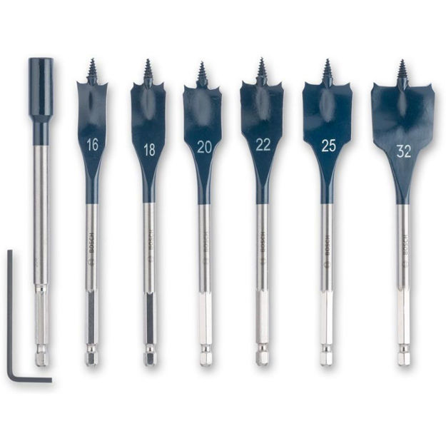 Picture of Bosch Selfcut 6pc Speed Flat Bits Set ( Hex Shank )