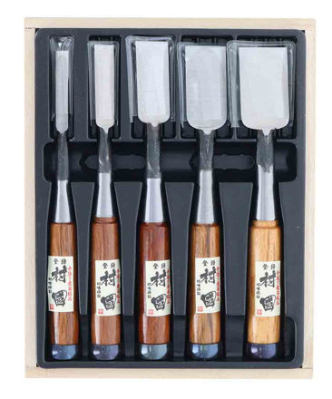 Picture of Japanese Murakuni Fine Chisel Set 5 pcs (Oi-ire-Nomi)