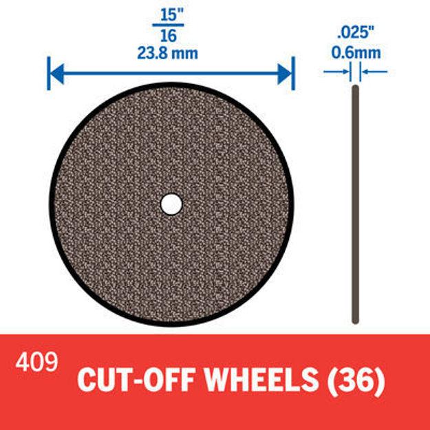 Picture of DREMEL 409 1mm Cut Off Wheel - Pk 36