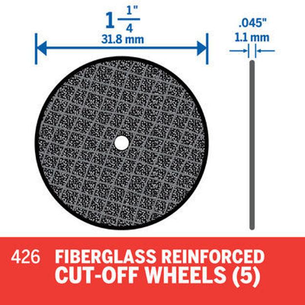 Picture of DREMEL 426 Fiberglass  Reinforced Cutting Wheel - Pk 5