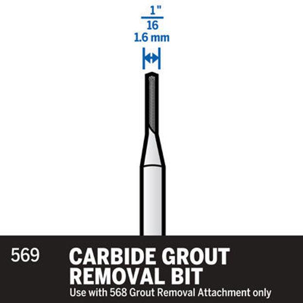 Picture of DREMEL 569 Grout Removal Bits 1.6mm