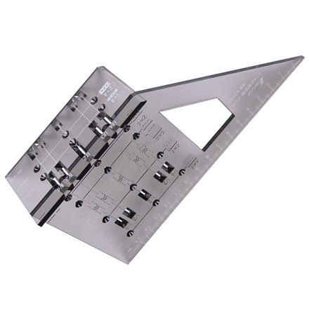 Picture of Shinwa Japanese Square Mitre Marking Saddle Layout Miter Rule 3D 45° 90° - 62115