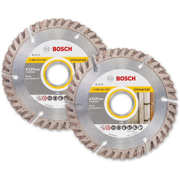 Picture of Bosch 115mm Diamond Disc Twin Pack - 2608 615 57
