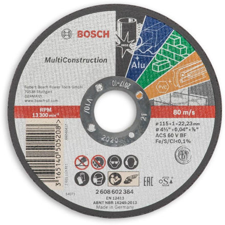 Picture of Bosch Rapid Multiconstruction Thin Cutting Disc 125mm - 2608602385