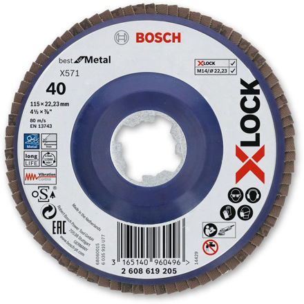 Picture of Bosch X-Lock Grinder Flap Disc 115mm - 40g 2608619205
