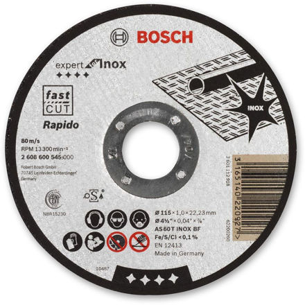 Picture of Bosch Ultra Thin Metal Cutting Disc 115mm - 2608600545