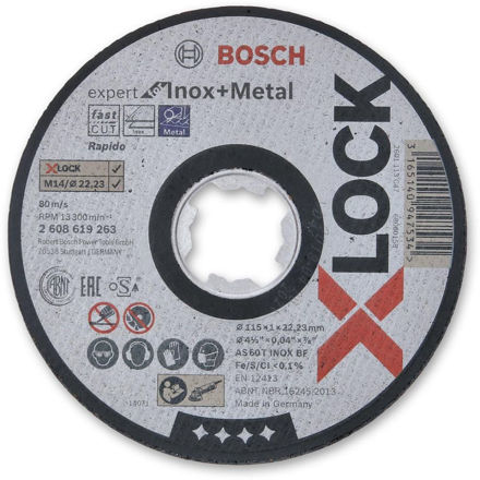 Picture of Bosch X Lock Expert 1mm Thin Metal Cutting Disc 115mm - 2608619263