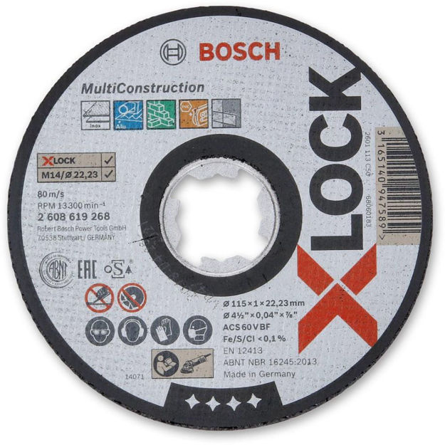 Picture of Bosch X Lock Multiconstruction 1mm Thin Cutting Disc - 2608619268